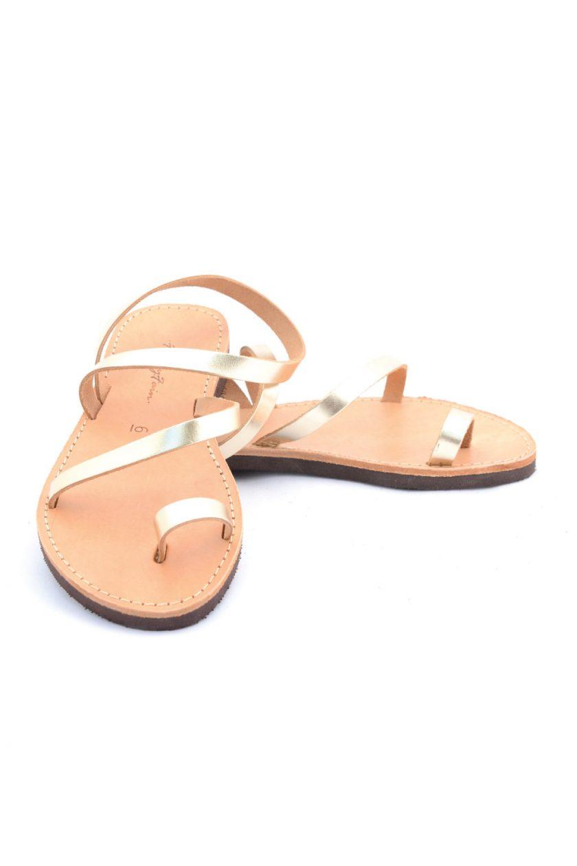 Sandale piele naturala FUNKY DAY, auriu   FUNKYFAIN