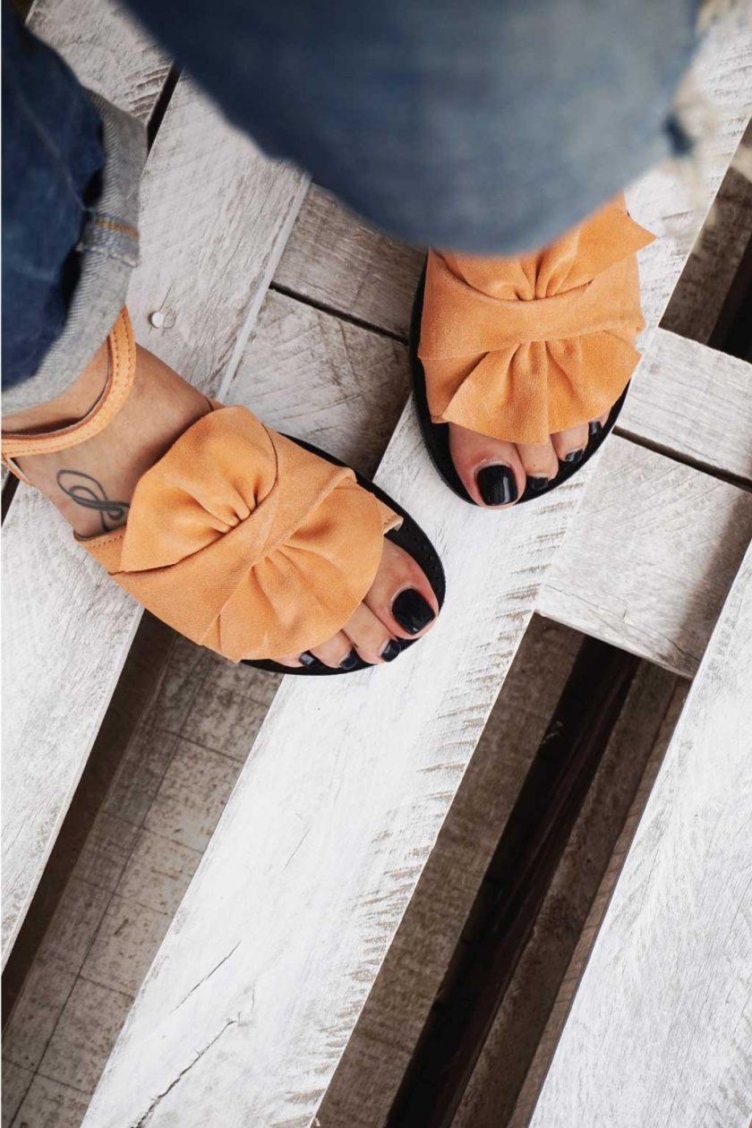 Sandale piele naturala FUNKY B, nude - corai   FUNKYFAIN