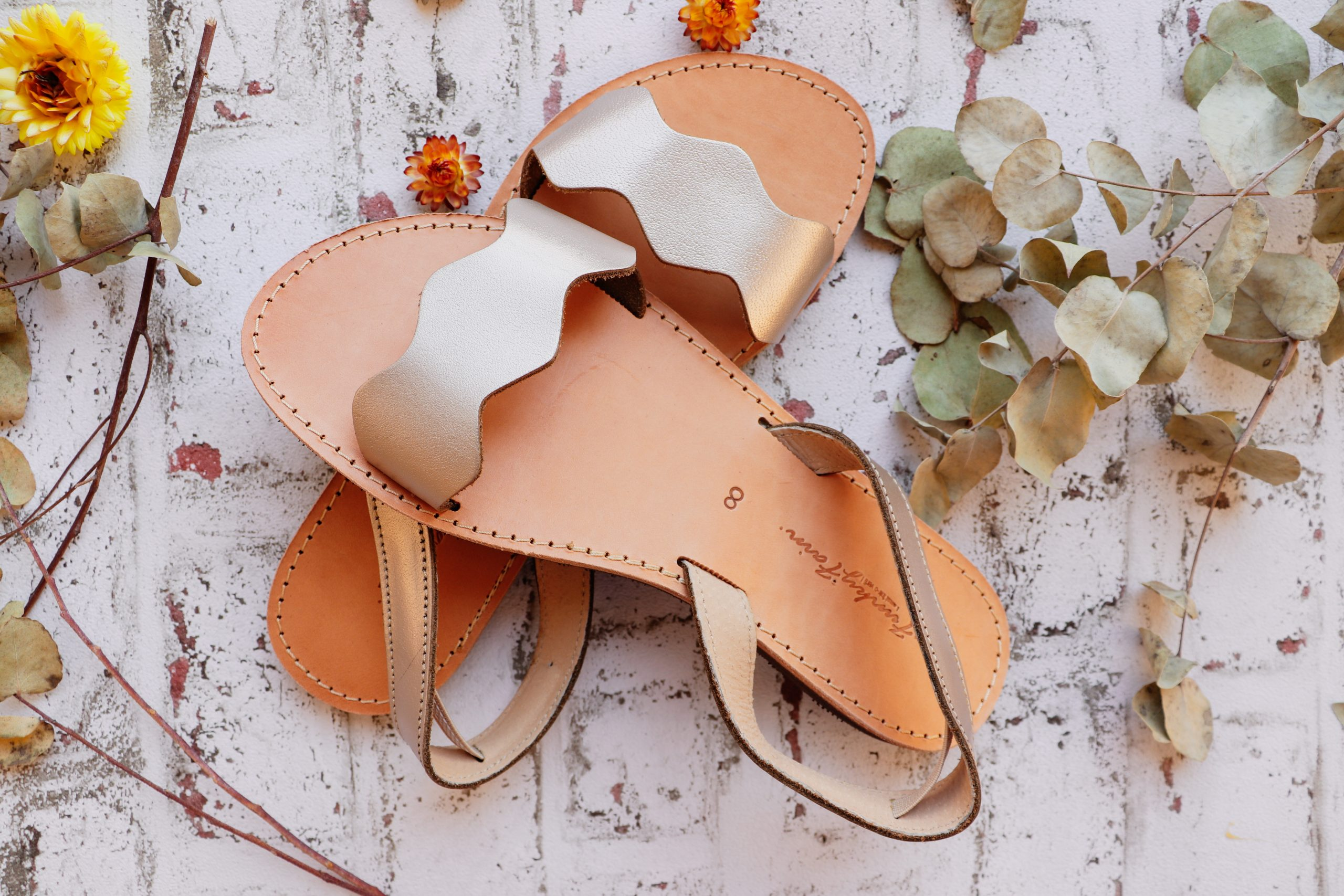 Sandale damă piele naturală FUNKY VIBE, grej metalic