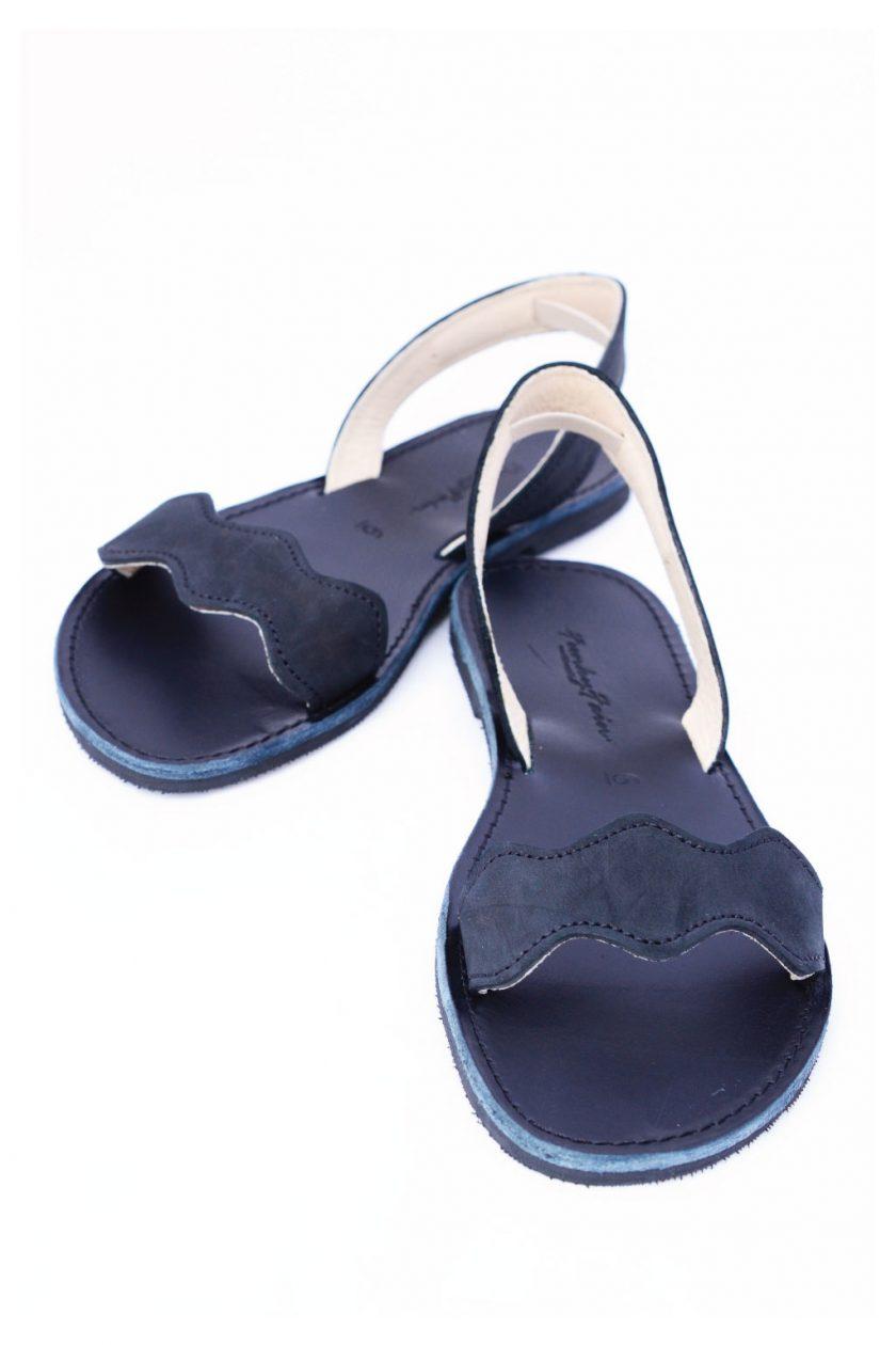 Sandale piele naturala nabuc FUNKY VIBE, negru