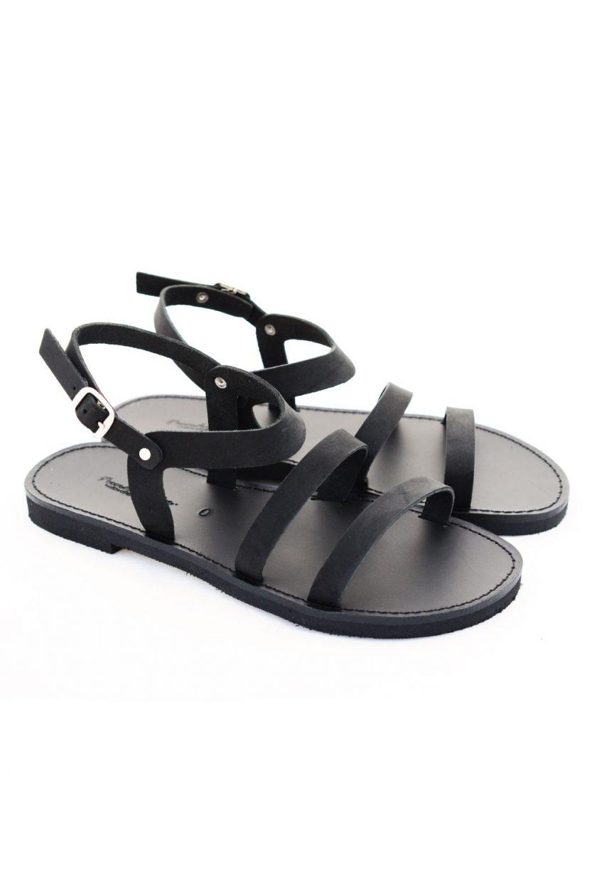 Sandale cu talpă joasă FUNKY CHIC, negru