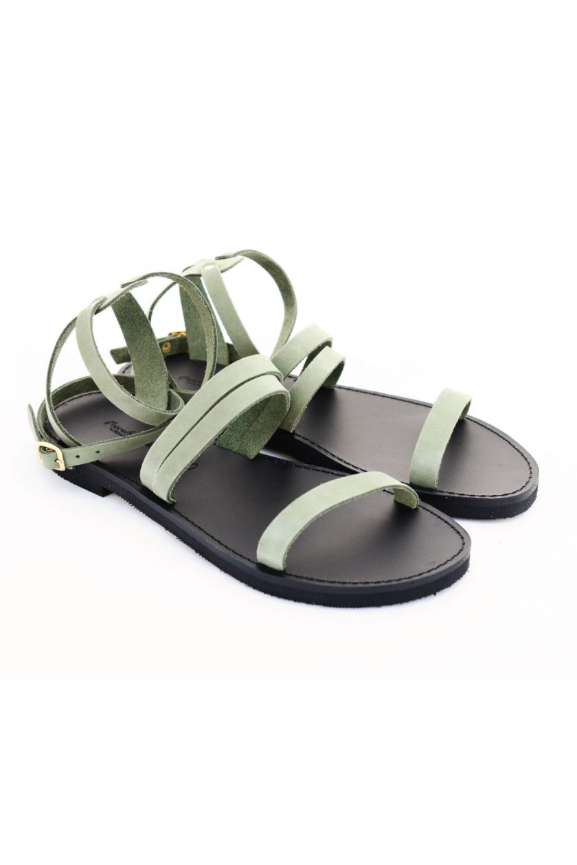 Sandale din piele naturală FUNKY GLAM, verde